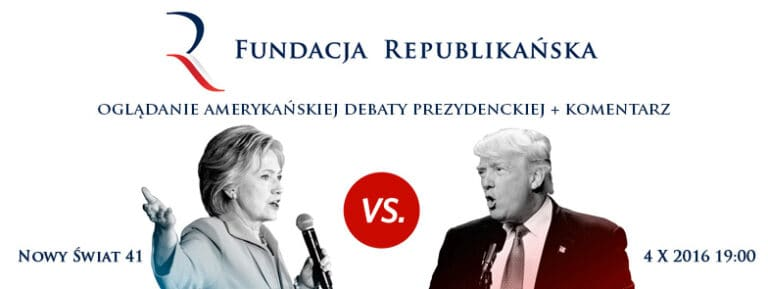 Debata Clinton vs Trump w Fundacji Republikańskiej