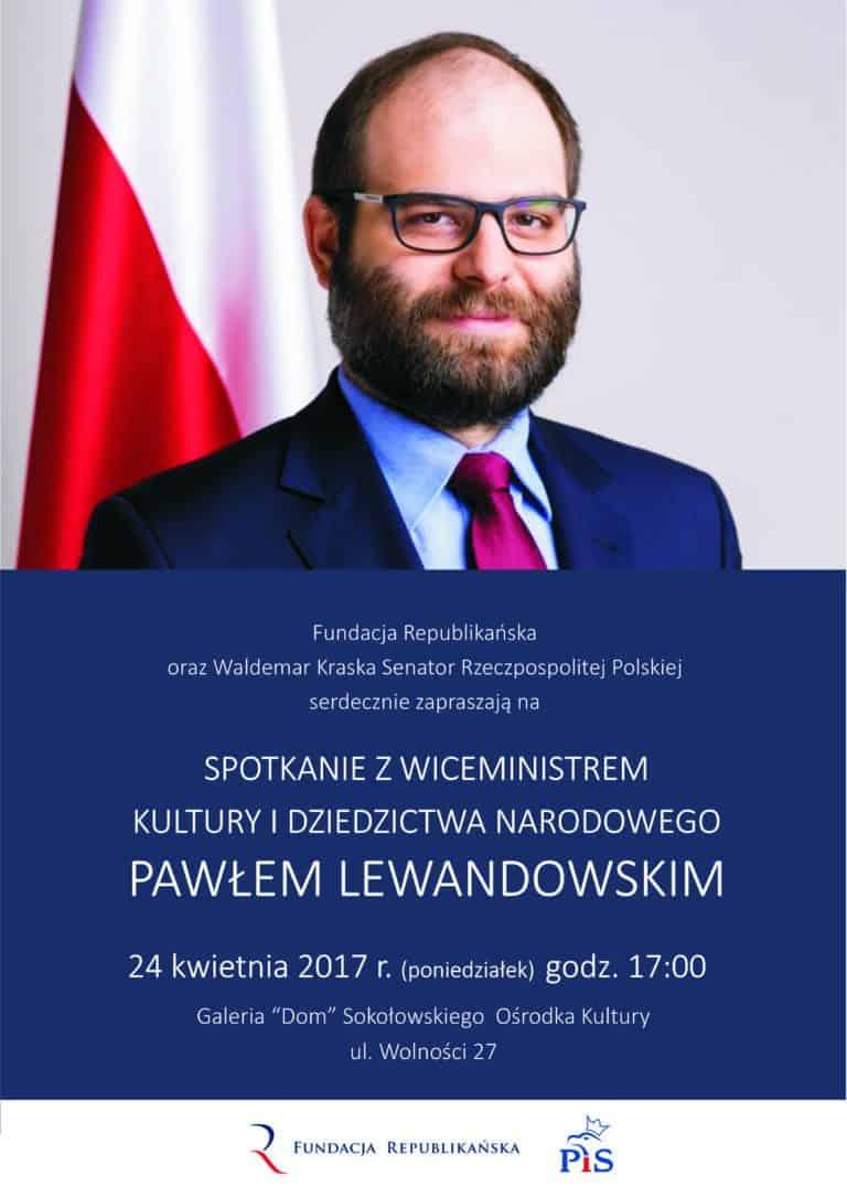 Spotkanie z wiceministrem Pawłem Lewandowskim w Sokołowie Podlaskim