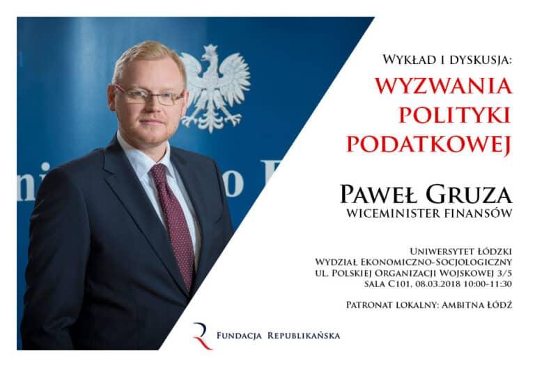 Spotkanie z wiceministrem finansów Pawłem Gruzą w Łodzi