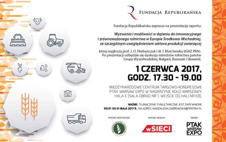 Zaproszenie na prezentację raportu o rolnictwie w Europie Środkowo-Wschodniej