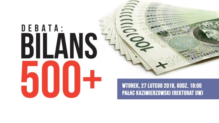 """Debata """"Bilans 500+"""" na UW z patronatem Fundacji Republikańskiej"""